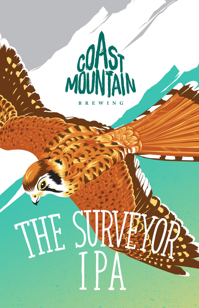 Coast Mountain Surveyor IPA Label