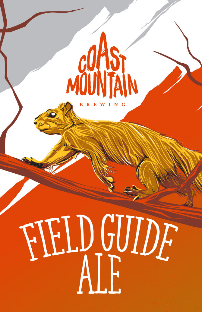 Coast Mountain Brewing Field Guide Ale Label