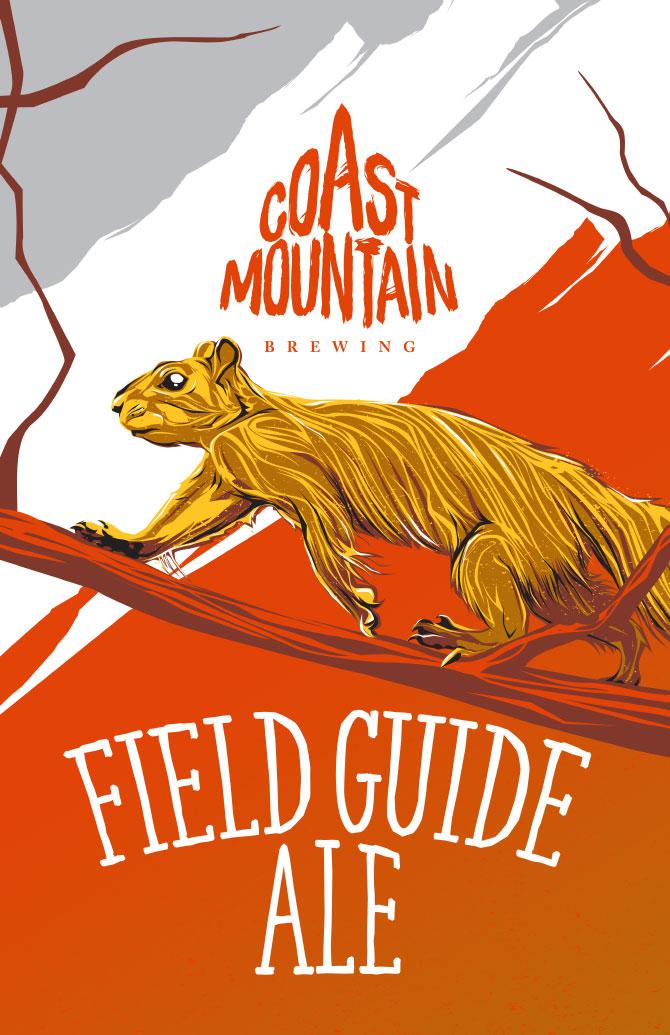 Coast Mountain Brewing Field Guide Ale Label