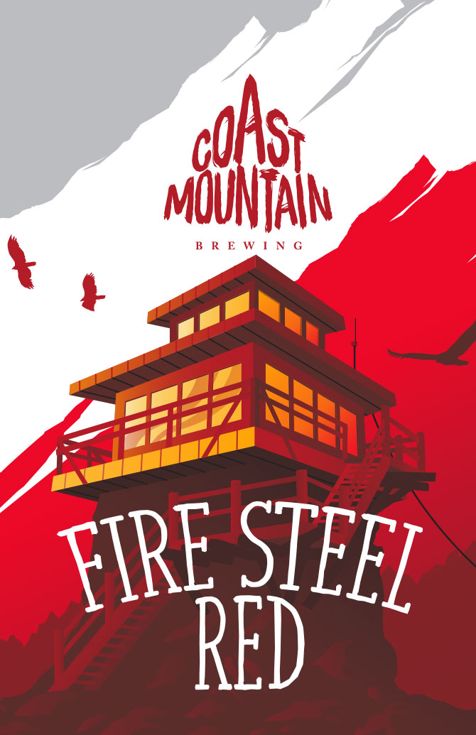 Coast Mountain Brewing Fire Steel Red Label