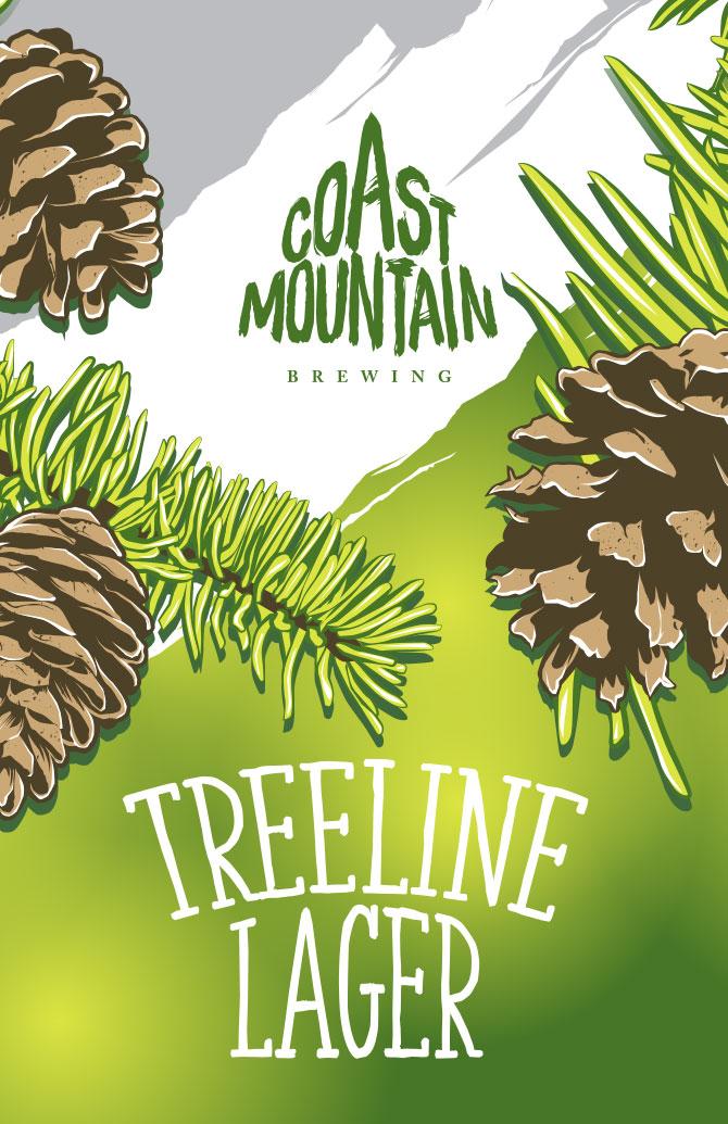 Coast Mountain Brewing Treeline Lager Label