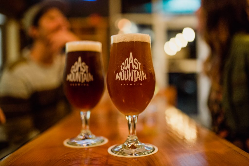 Coast Mountain Beer at Hunter Gather